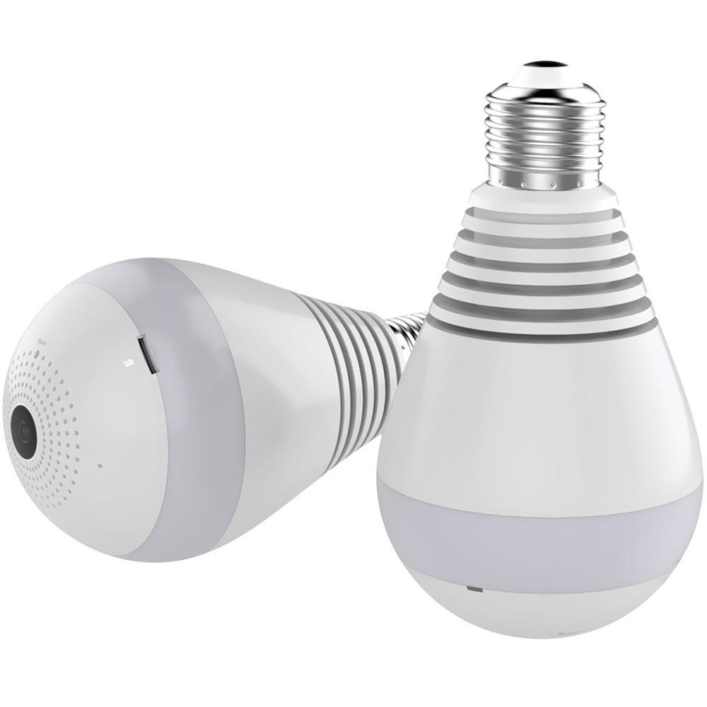 Wireless Light Bulb Camera 360-degree Panoramic Wifi Network Monitor 1080 Hd Night Vision Version Camera white