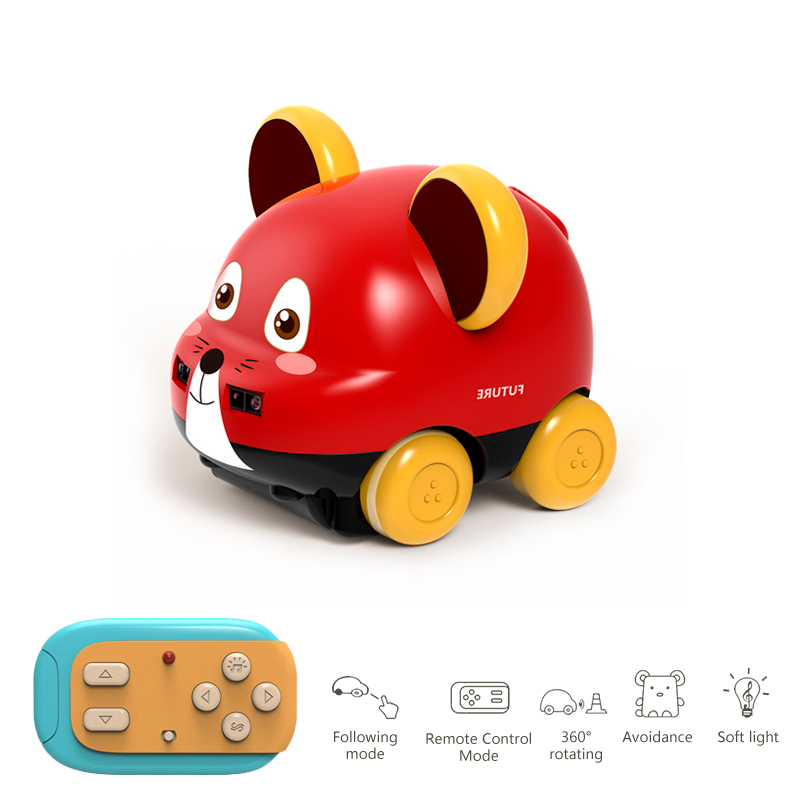 GF001 Remote Control Stunt Car Gesture Induction Motion Sensing Animal Following Vehicle for Christmas Gift red