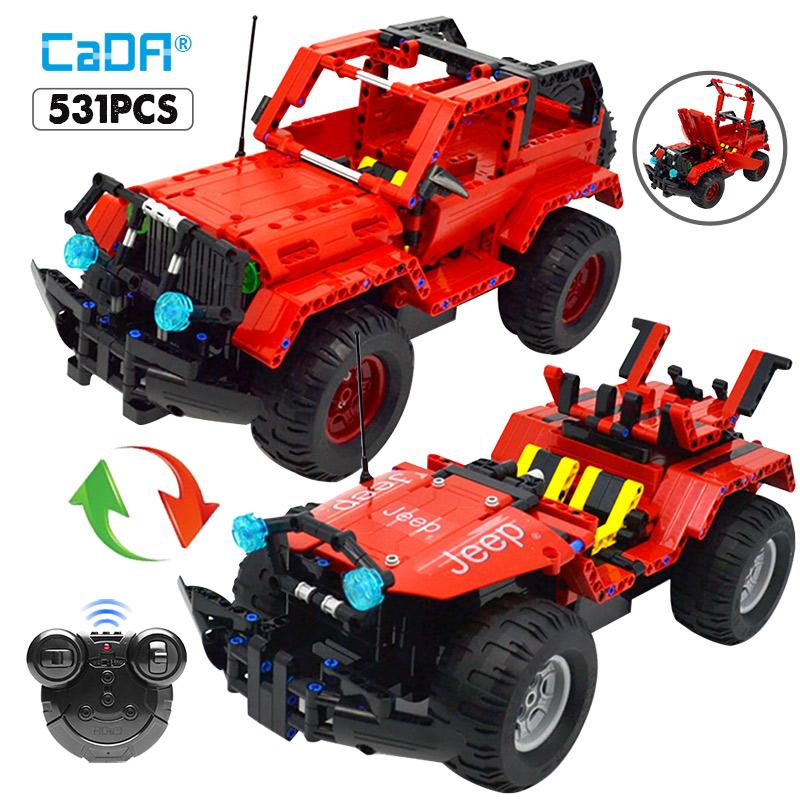 C51001 Electric Assemble RC Racing Car Building Blocks Puzzle Toy for Kids 531PCS