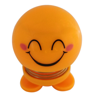 14 Coils LED Dolls Car Shaking Head Emoji Wobble Head Toys Spring Nod Dolls Car Decoration 8