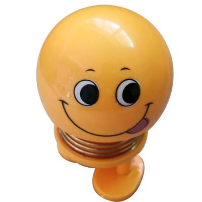 14 Coils LED Dolls Car Shaking Head Emoji Wobble Head Toys Spring Nod Dolls Car Decoration 6