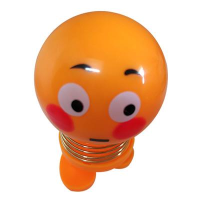 14 Coils LED Dolls Car Shaking Head Emoji Wobble Head Toys Spring Nod Dolls Car Decoration 5