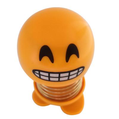 14 Coils LED Dolls Car Shaking Head Emoji Wobble Head Toys Spring Nod Dolls Car Decoration 7