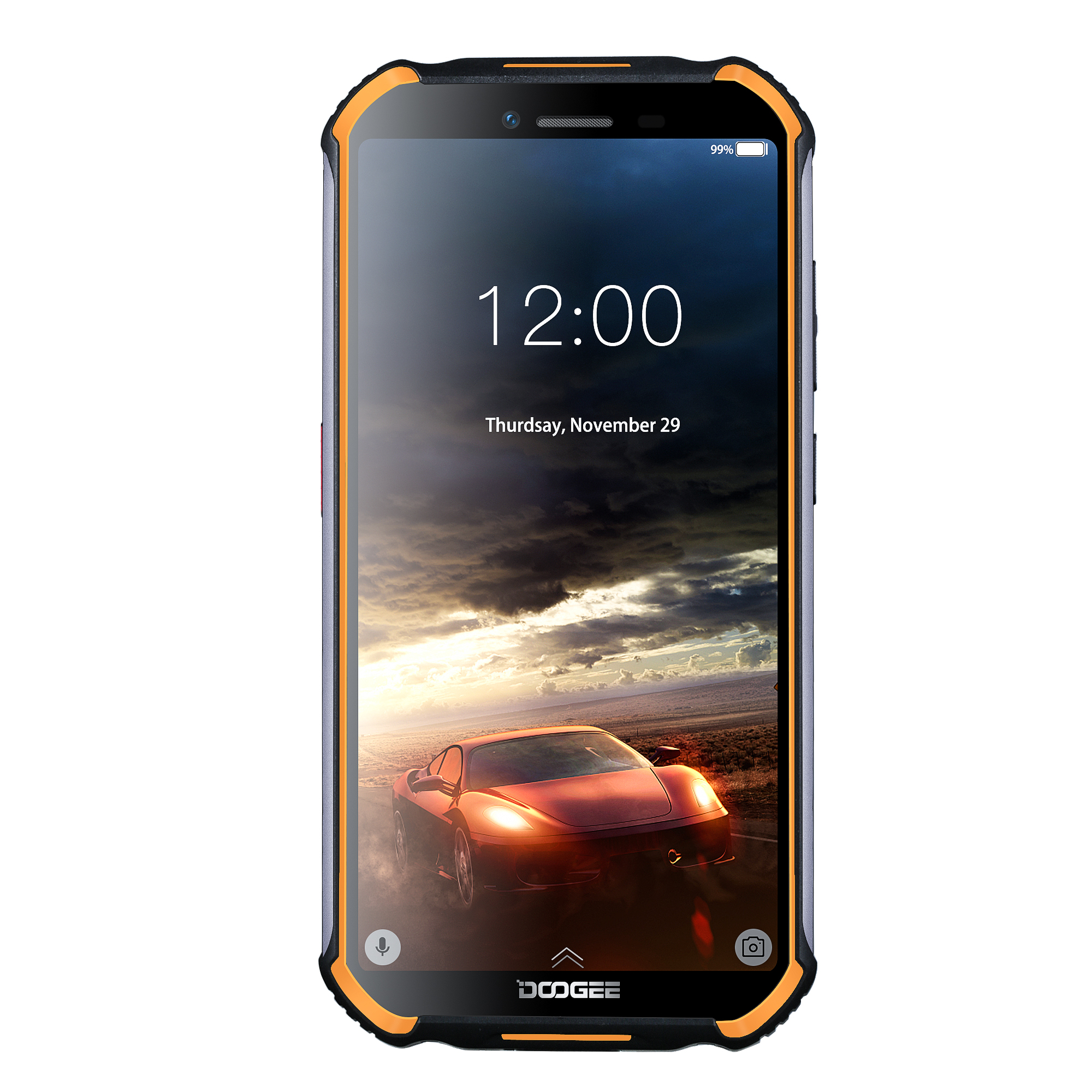 IP68 DOOGEE S40 Lite Quad Core 2GB 16GB Android 9.0 Rugged Phone Mobile Phone 5.5inch Display 4650mAh 8.0MP Fingerprint Orange