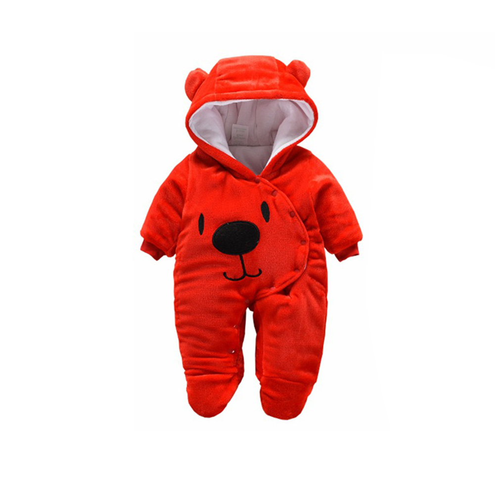 Baby Unisex Cute Cartoon Jumpsuit red 3M