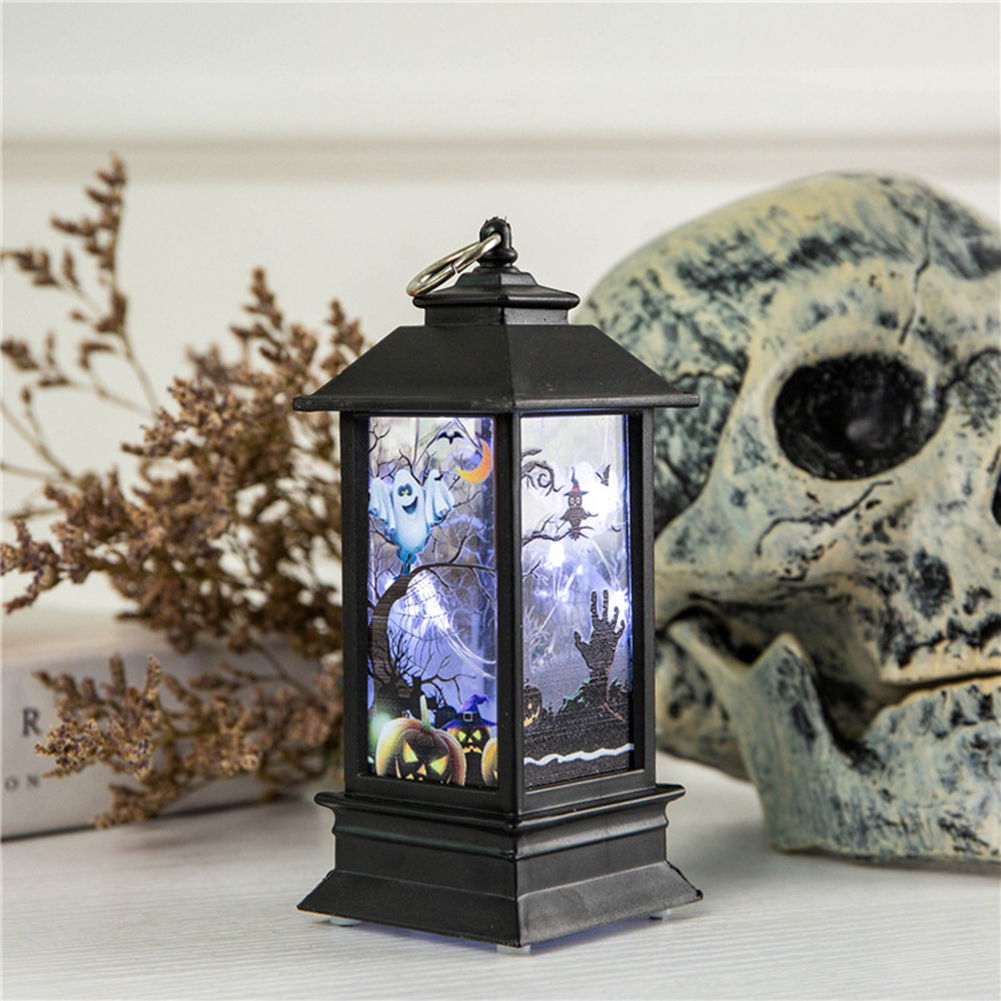 Simulate Halloween Series Pattern Flame Light for Home Bar Tabletop Decoration