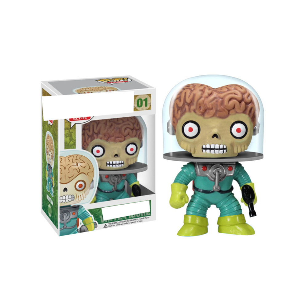POP Mars Attacks  Vinyl Dolls Comics Aliens Doll Figure Model Toys For Children Christmas Gift POP 01 # Martian