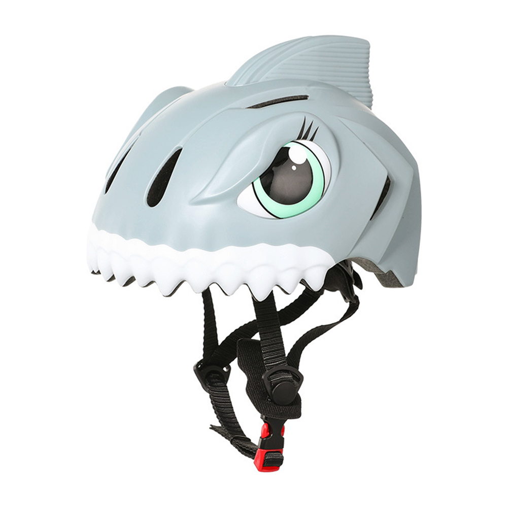 Children's Helmets 3d Animal Adjustable Breathable Hole Safety Helmet For Bicycle Scooter Various Sports Grey _One size