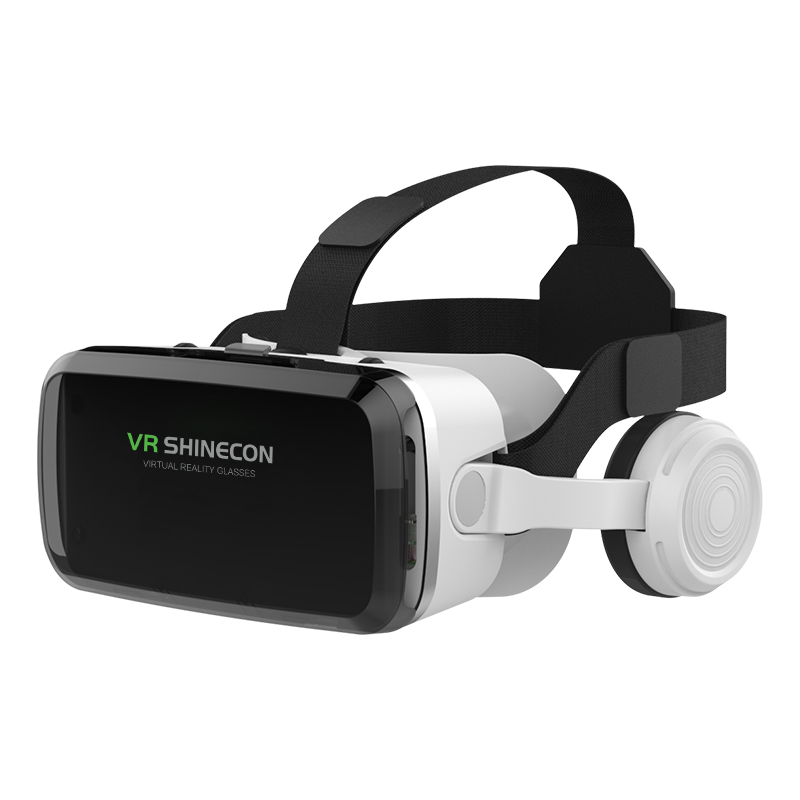 Vr Glasses Multi-function Virtual Reality Helmet Glasses With Bluetooth Headset white