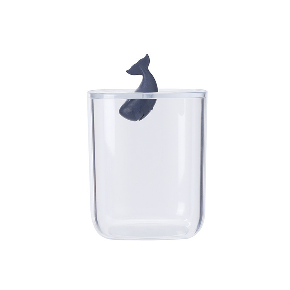Desktop Storage  Box With Transparent Lid Tree  Shaped Table Organizer Whale_9*13.5