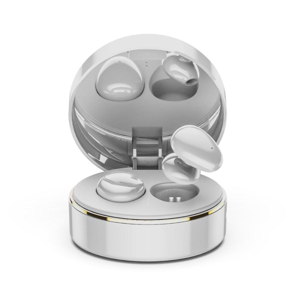 TWS Bluetooth 5.0 Wireless Headsets Waterproof Sports Stereo Earphones White