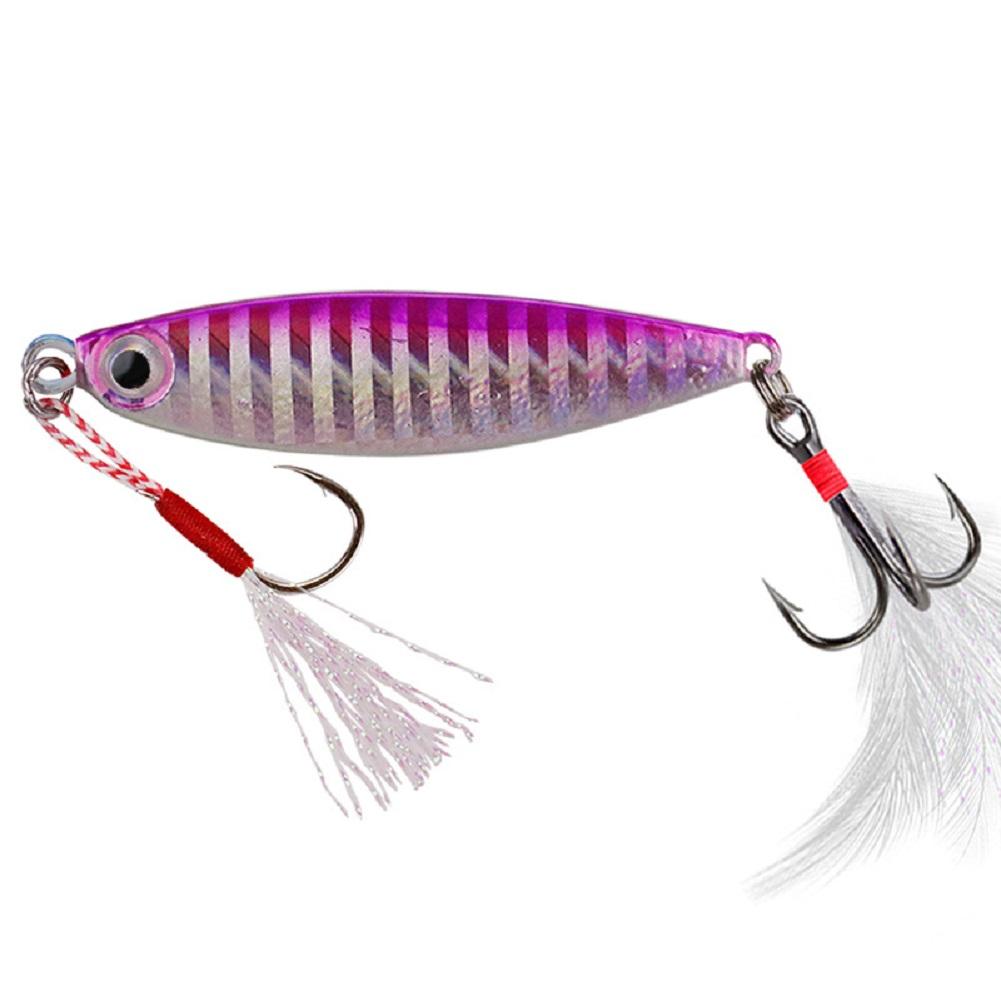 Fishing Lure fishing jigging lure spoon spinnerbait Sheet Iron All Metal Mini Lead Fish Fishing Lure Trolling 7g10g15g20g Color 4_10g