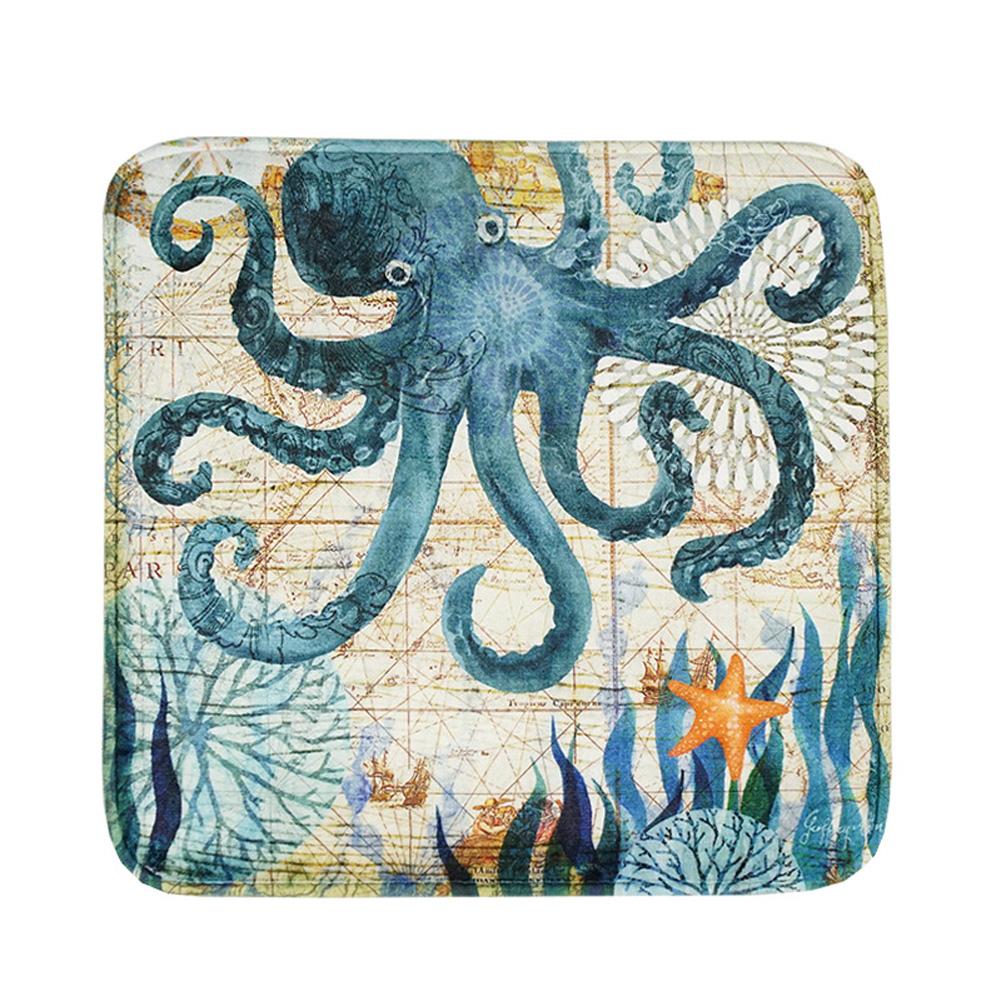 Printing Seat Cushion Slow Rebound Home Sofa Decoration Car Soft Cushion octopus_40 * 40cm
