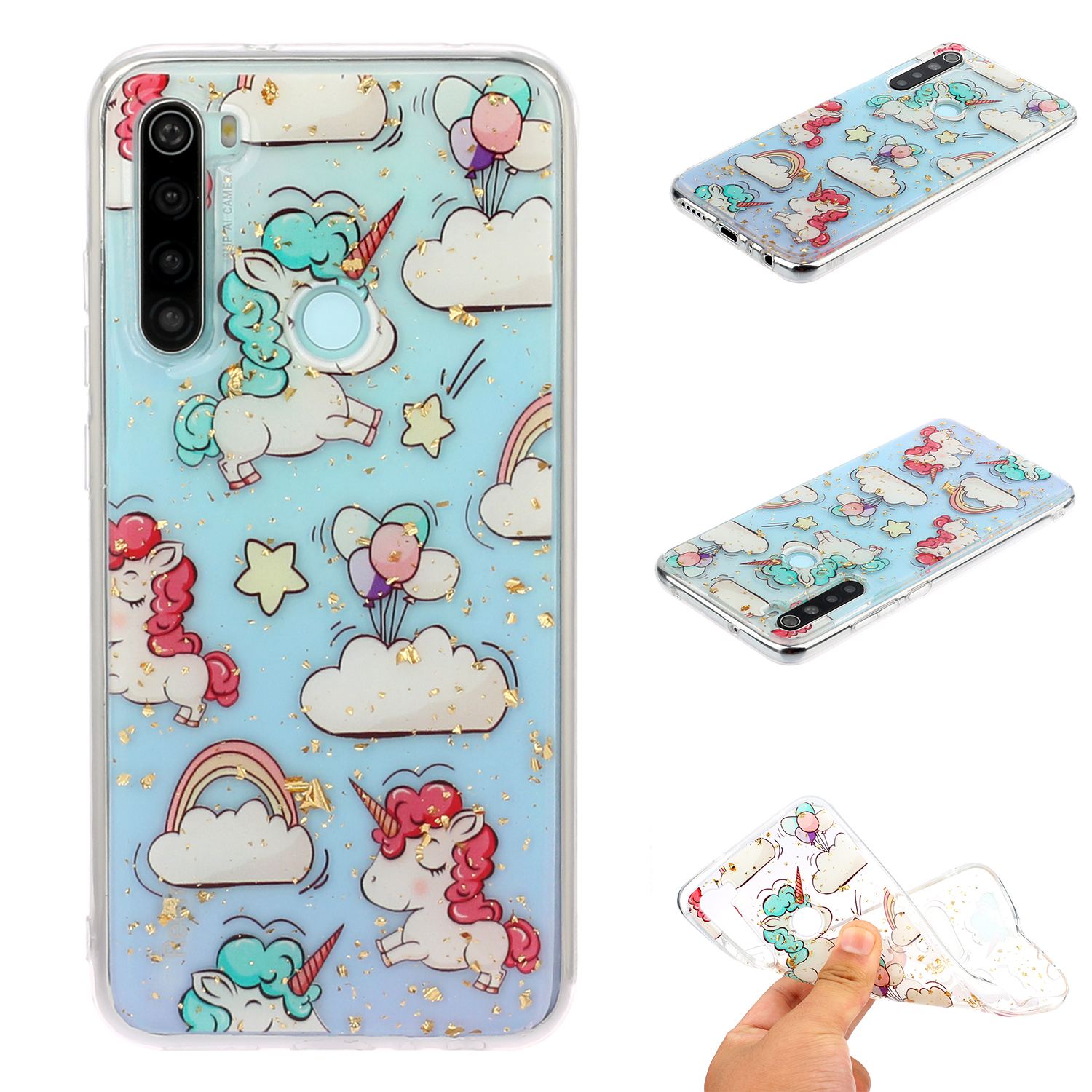 For Redmi Note 8 / Redmi Note 8 Pro Cellphone Cover Beautiful Painted Pattern Comfortable Wear TPU Phone Shell 9