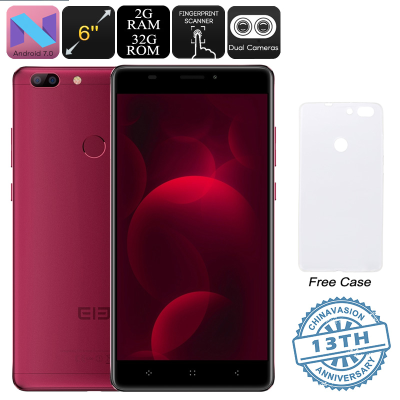 Elephone C1 Max Android Phone (Red)