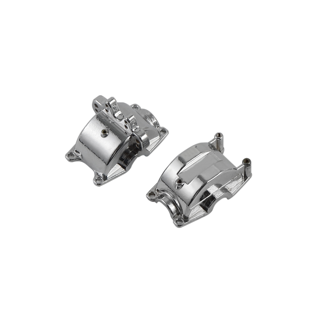 WLtoys Upgrade Front & Back Metal Gear Housing Box Shell Spare Parts for Wltoys 1/18 A949 A959 A969 A979 RC Car Silver