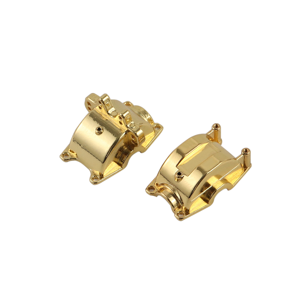 WLtoys Upgrade Front & Back Metal Gear Housing Box Shell Spare Parts for Wltoys 1/18 A949 A959 A969 A979 RC Car Gold