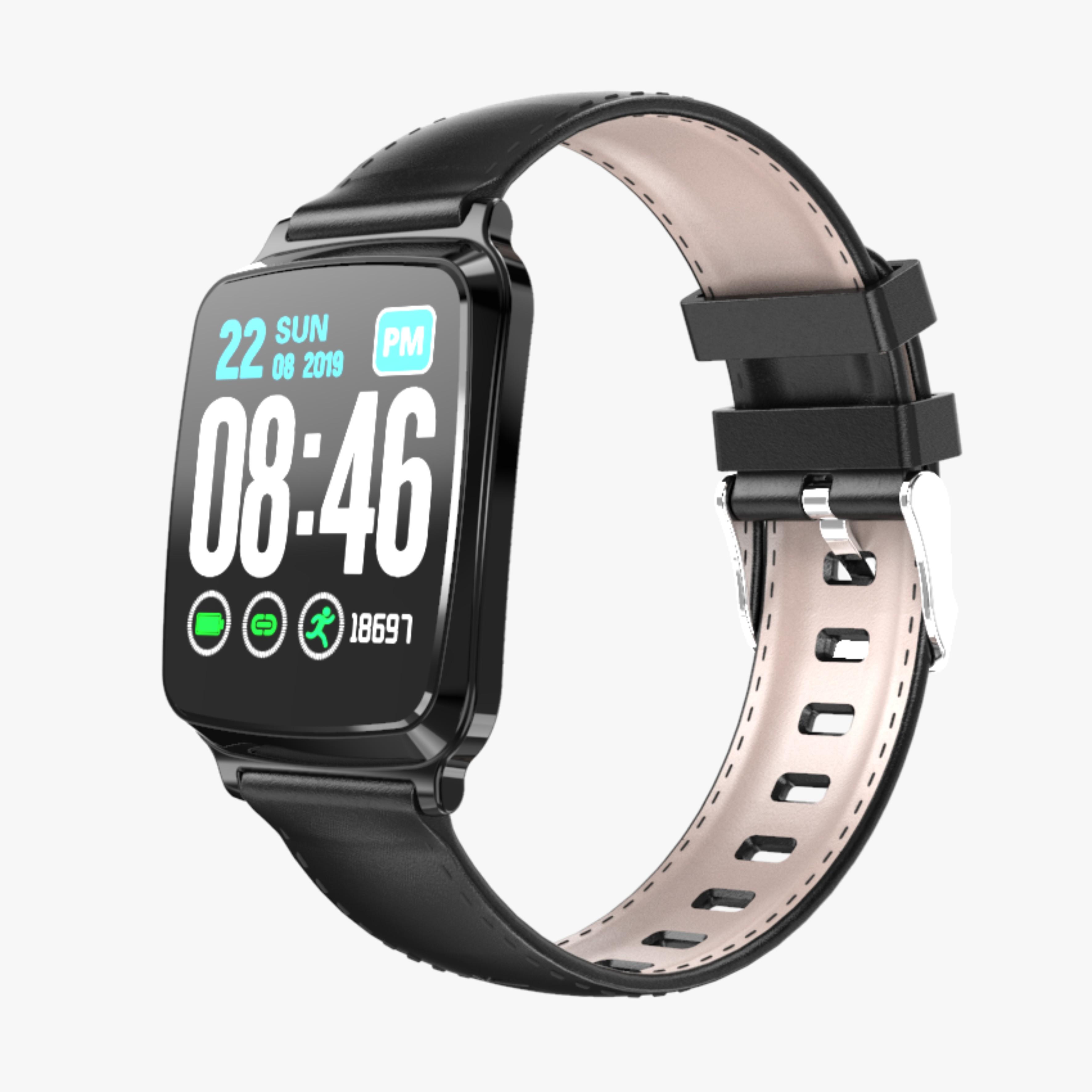 Ultra-thin Fashion M8 Fitness Tracker IP67 Waterproof Blood Pressure Sports Call Reminder Bluetooth Smart iOS Watch black
