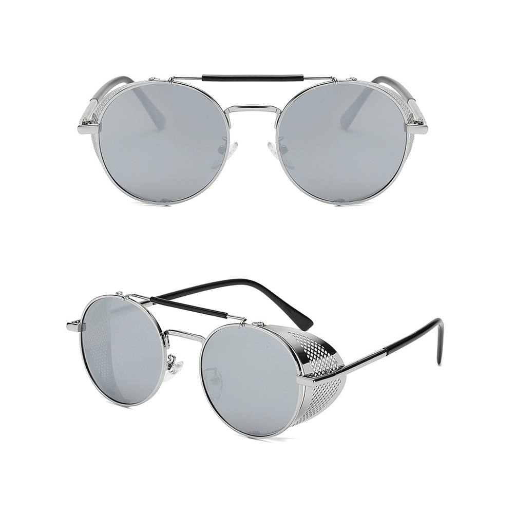 Outdoor Fashion Sunscreen Glasses TAC Lens Polarized/Not Polarized Glasses for Outdoor Sports Silver frame mercury film_Non-polarized
