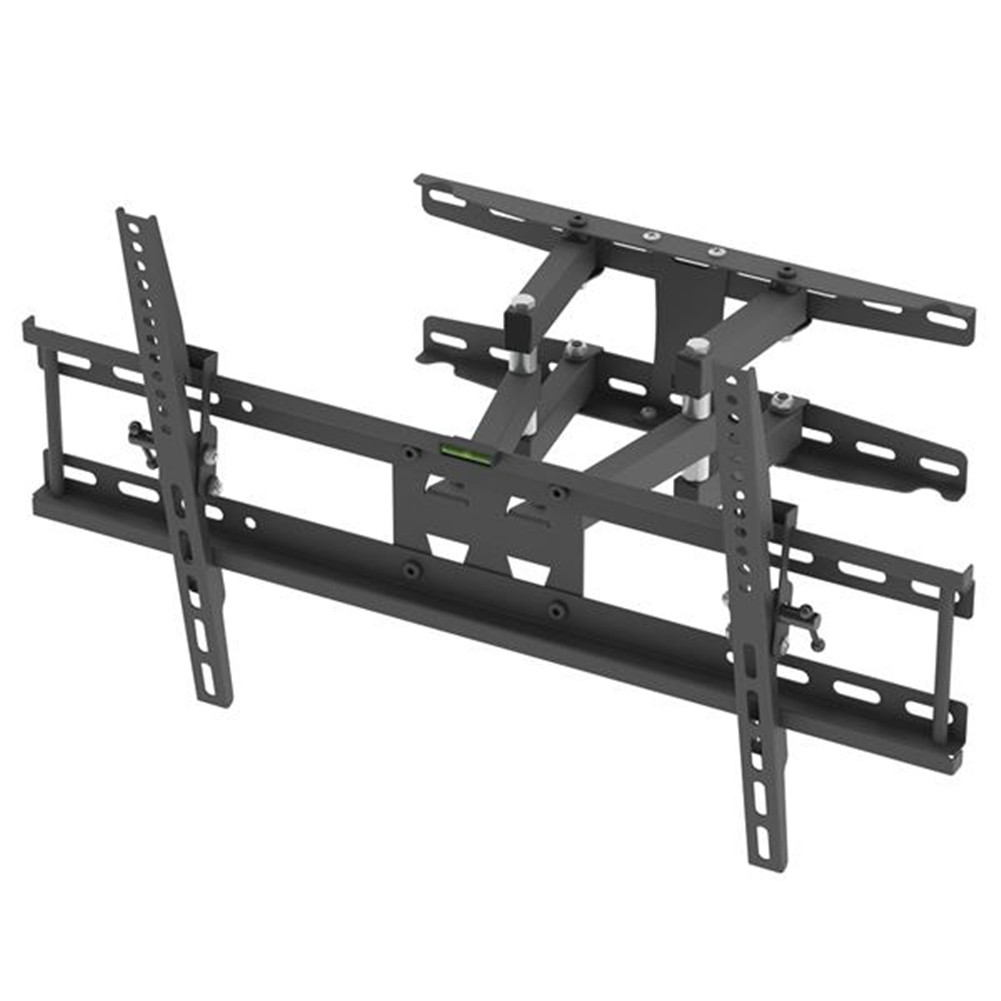 [US Direct] Original LEADZM Cold Rolled Plate Tmds-204 32-70 Inch Double Pendulum Large  Base  Tv  Stand Load-bearing 50kg Bracket black