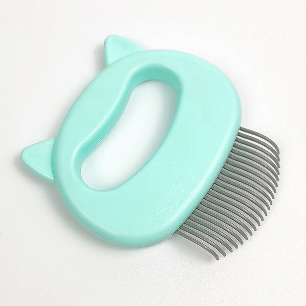Grooming Brush Massage Comb for Dog Cat Floating Hair Removing Cleaning Tool L_green