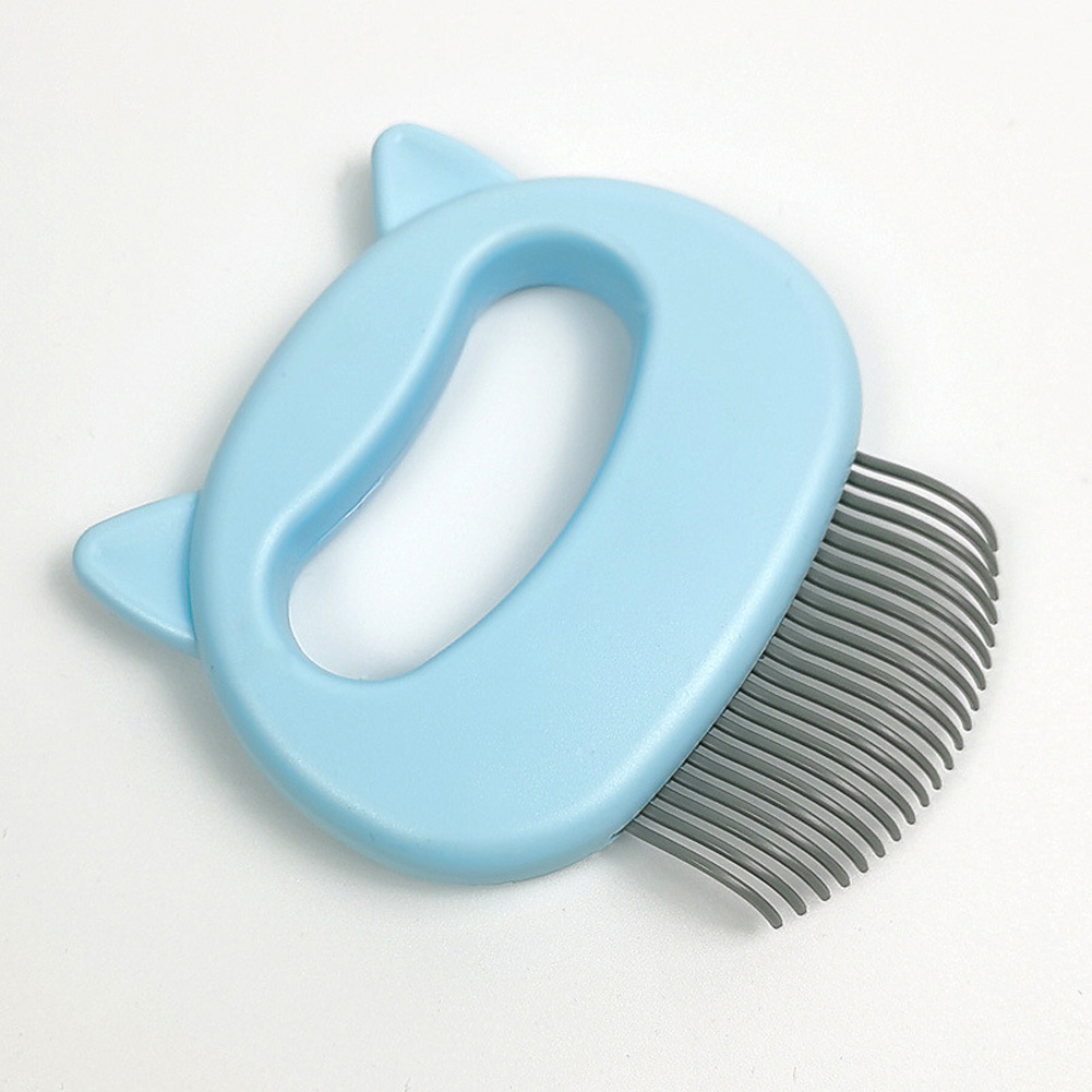Grooming Brush Massage Comb for Dog Cat Floating Hair Removing Cleaning Tool L_blue
