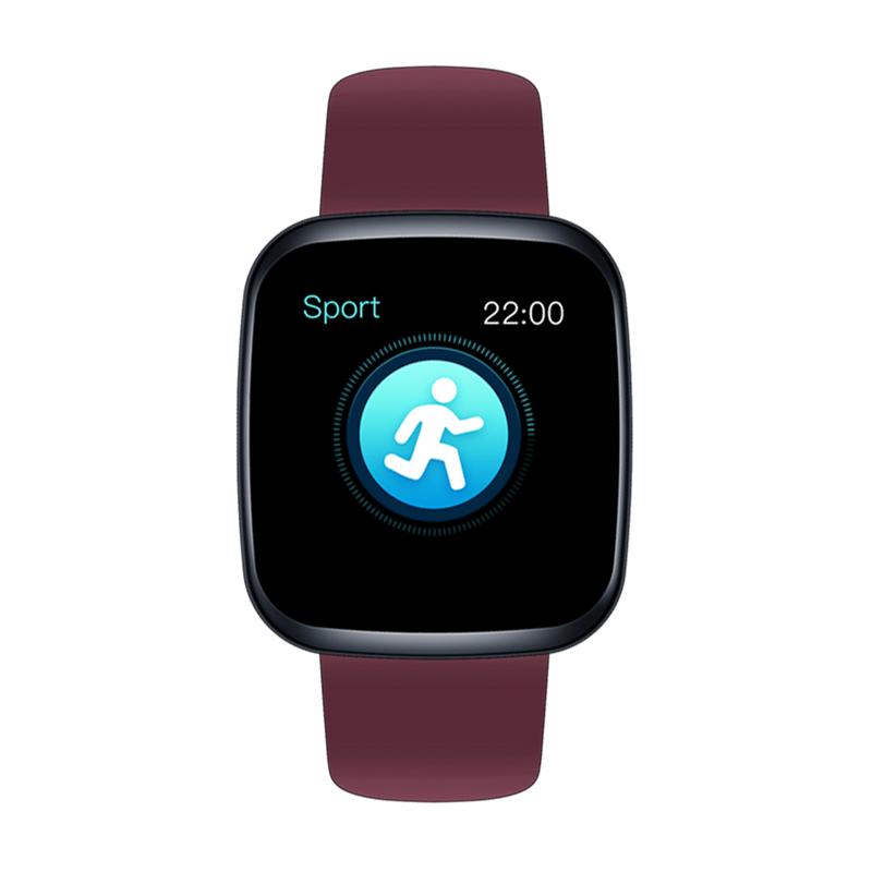 Original Zeblaze Crystal 3 Smartwatch WR IP67 IPS Color Display Heart Rate Blood Pressure Long Battery Life Smart Watch red