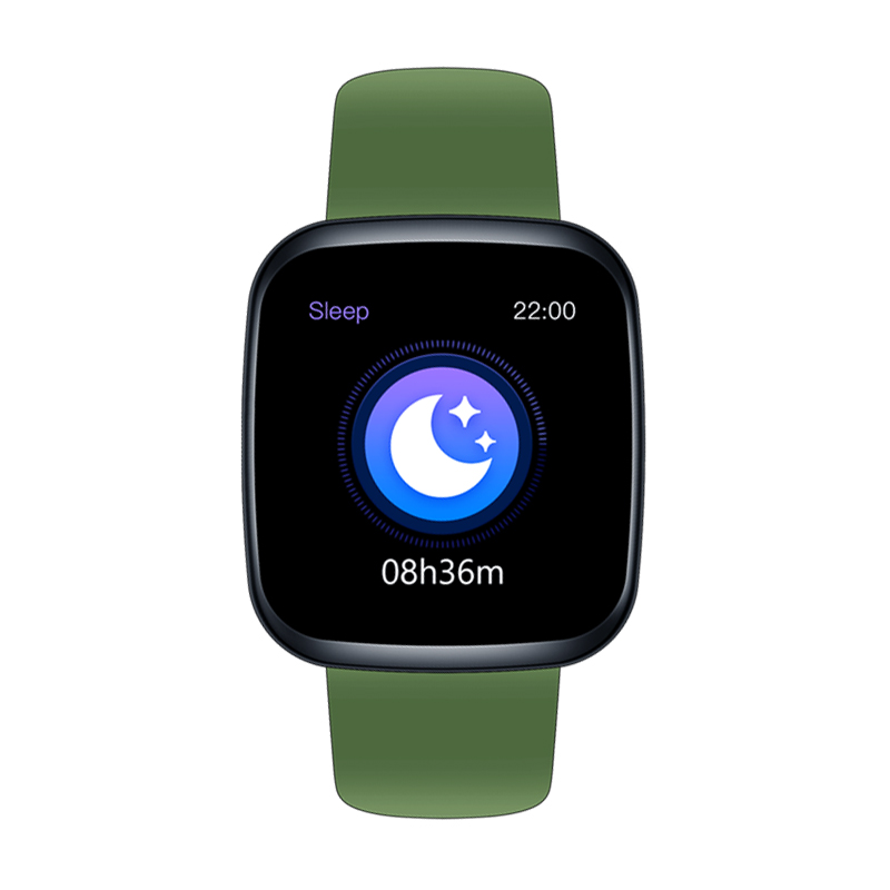 Original ZEBLAZE Crystal 3 Smartwatch WR IP67 IPS Color Display Heart Rate Blood Pressure Long Battery Life Smart Watch green