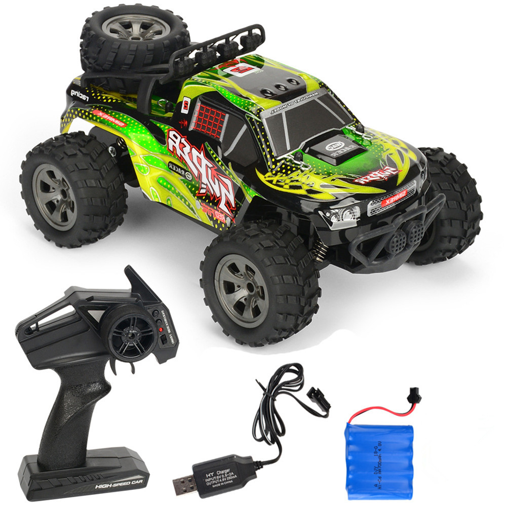 Rc  Car Remote Control High Speed Vehicle 2.4ghz Electric Toy Model Gift 679 green