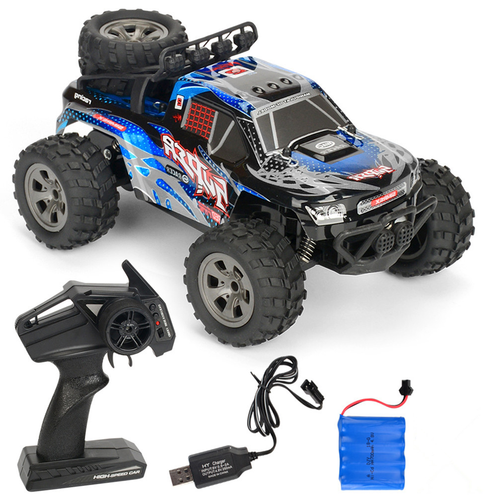 Rc  Car Remote Control High Speed Vehicle 2.4ghz Electric Toy Model Gift 679 blue