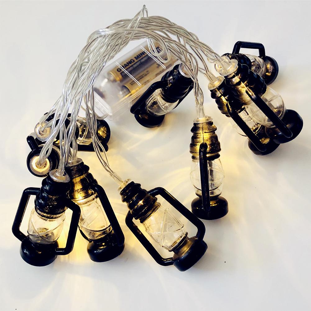 Halloween Christmas LED Kerosene Lamp LED Party Lamp for Decor Battery Power Supply Black kerosene lamp