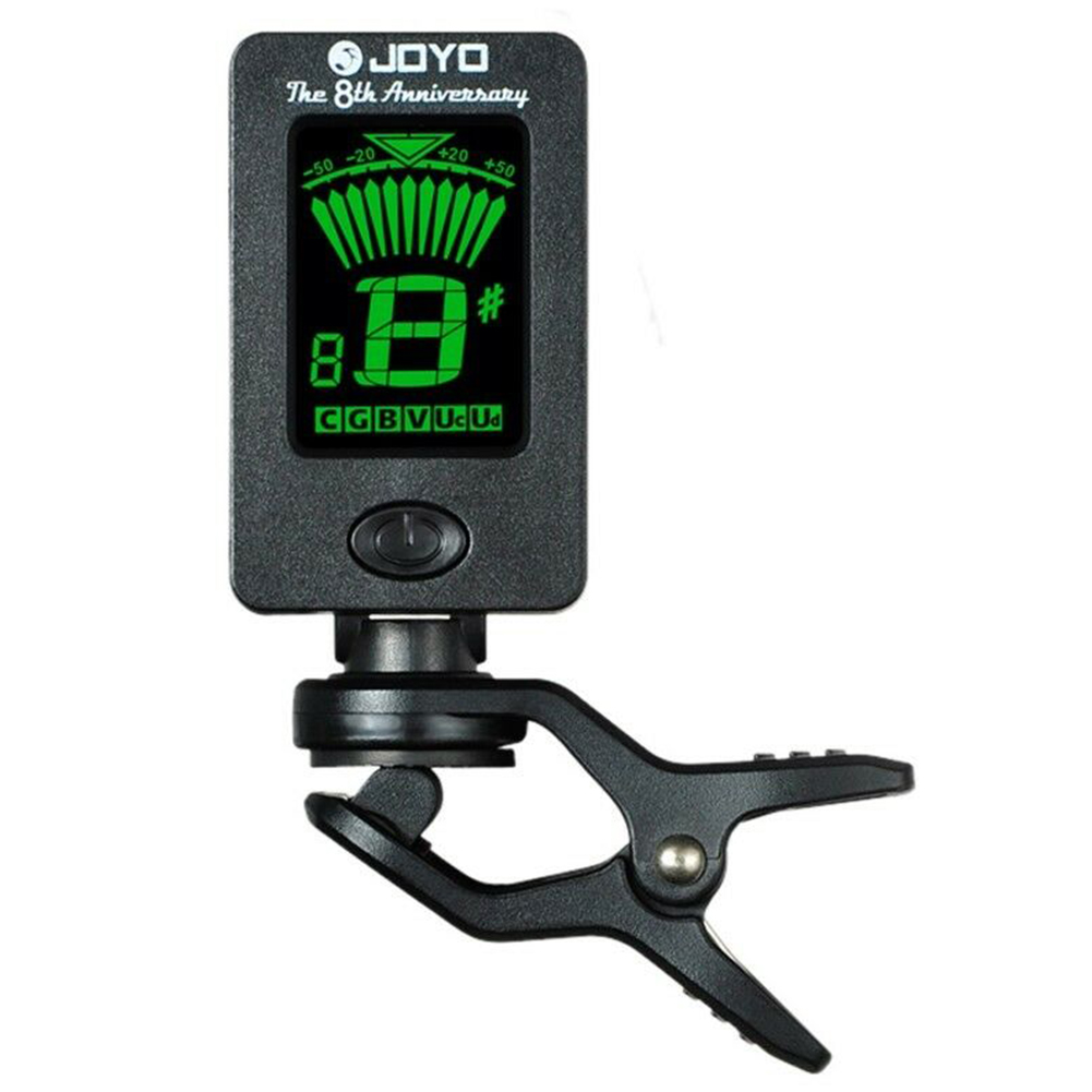 JOYO JT-01 360 Degree Rotatable Sensitive Mini Digital LCD Clip-on Tuner for Guitar Bass Violin Ukulele Part Accessories JT-01 black