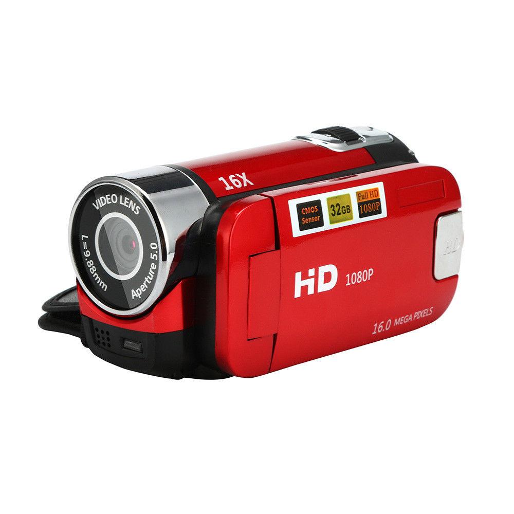 2.7 inch LCD Screen 16X Digital Zoom Video Camcorder HD Handheld Digital Camera  red EU plug
