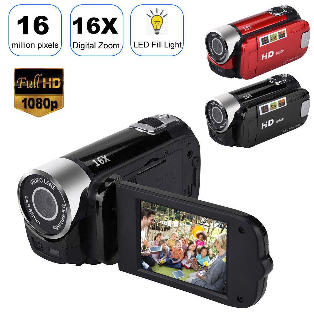 2.7 inch LCD Screen 16X Digital Zoom Video Camcorder HD Handheld Digital Camera  black US plug