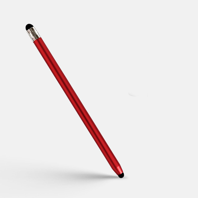 2 in 1 Stylus Pen Capacitive Screen Touch Pencil Drawing Pen for Tablet Android Smartphone red