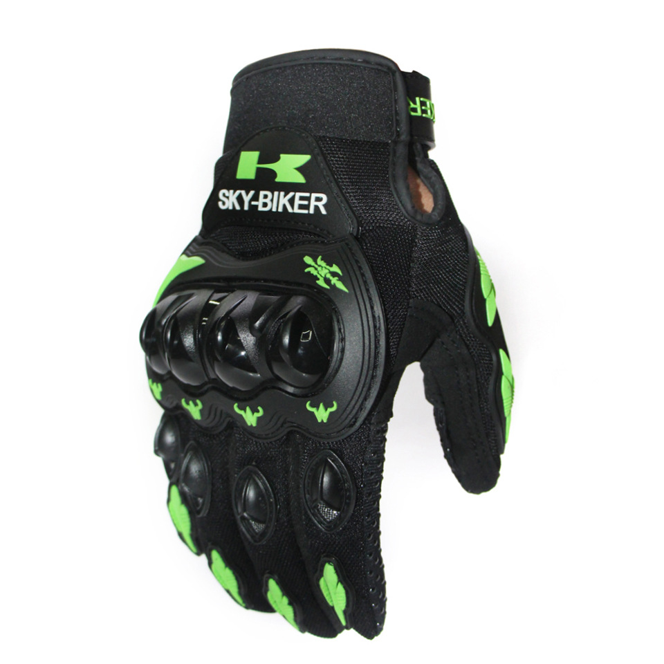 Motorcycle Gloves Outdoor Sports Hard Shell Protection Cycling Gloves green_L