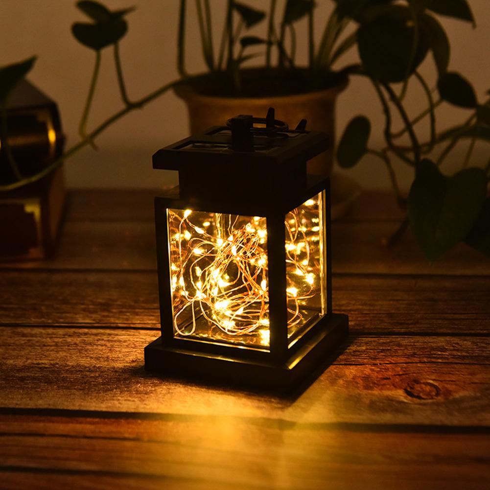 Waterproof Solar Lantern Light Outdoor Fairy String Light Hanging Lamp Intelligent Light Control Night Light