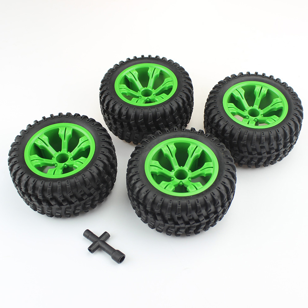 Reza Moridi 12428 Remote Control Accessory Tyre Wheel Hub Increase Tyre Green black