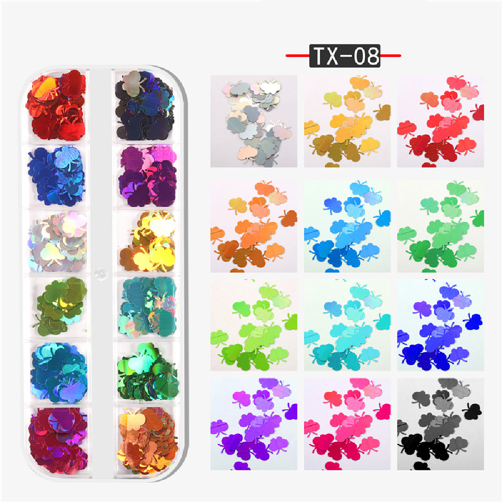 Nail Art Sequins Maple leaf butterfly alphabet flame Geometric Sequins DIY Decoration Butterfly sequin TX-08