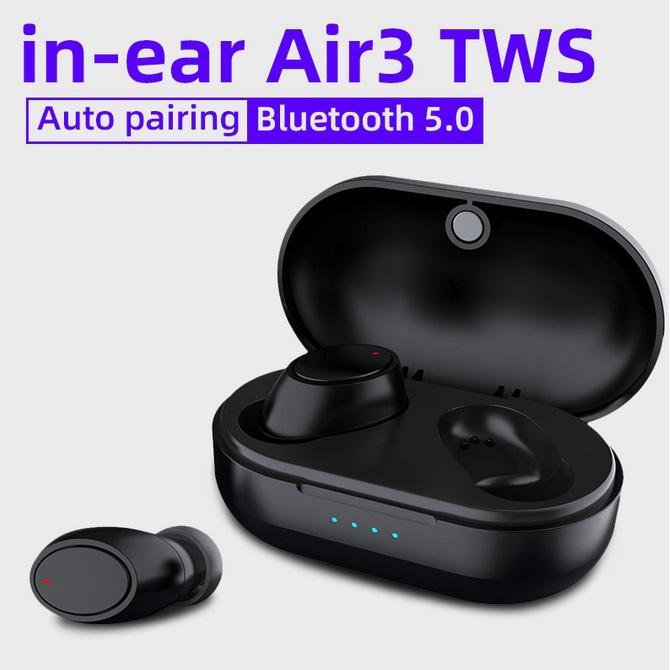 Bluetooth Wireless Headset Air3 TWS Binaural Touch Headset Waterproof In-ear Earphones Sports Stereo Music Headphones black