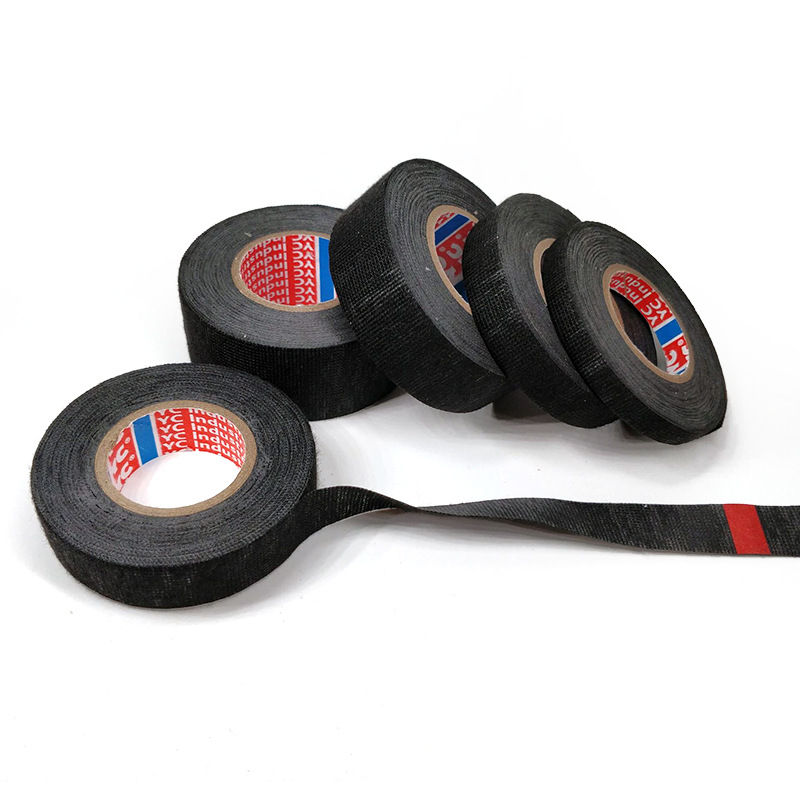Flannel Tape High  Temperature Waterproof Black Tape For Vehicle Internal Winding Harnesses 15MM*15m