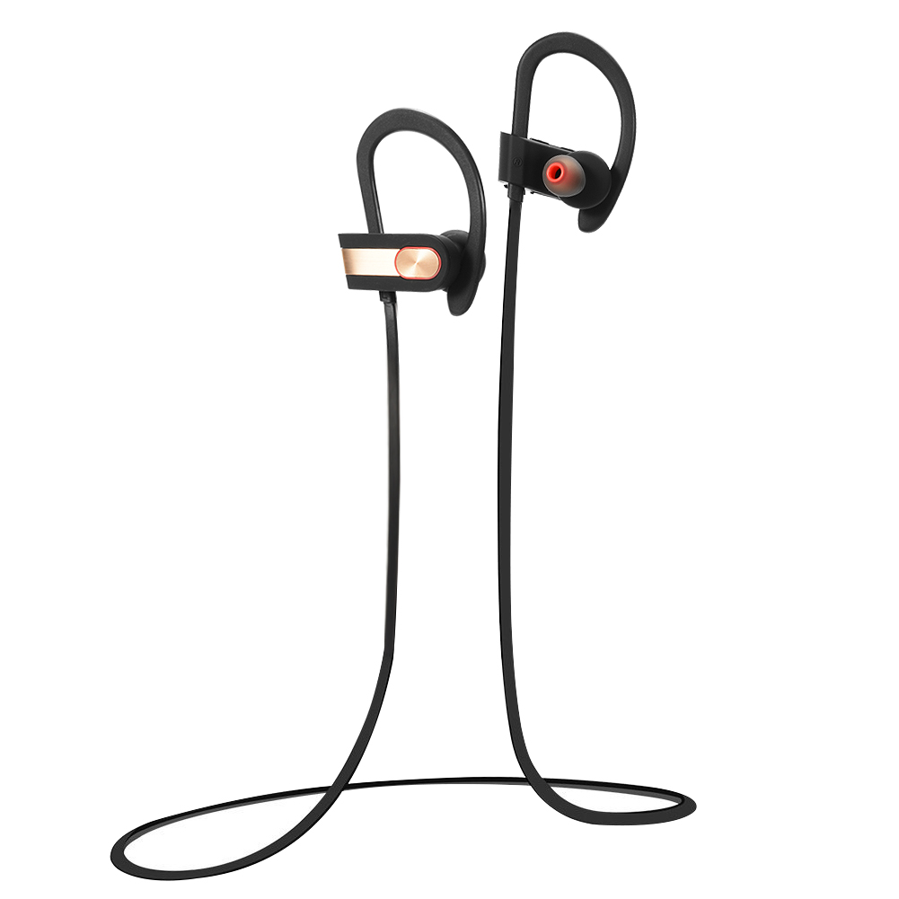 Wireless Bluetooth 4.1 Sweetproof Bluetooth Headphones for Sports,7 Hrs Playtime with Mic Golden