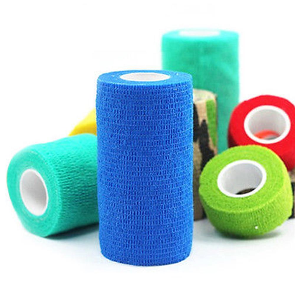Antiallergic Pet Wound Cohesive Bandage Tape Dog Cat Animal Elastic Self Adherent Wrap 2.5cm*4.5m random colour