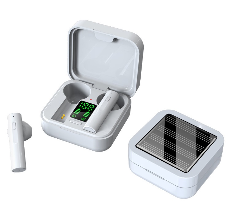 Tws Earphone Air6  Plus Noise  Cancelling Wireless Bluetooth  5.0 Solar  Charging Mini Earbuds Earphones Headset AIR6 plus solar