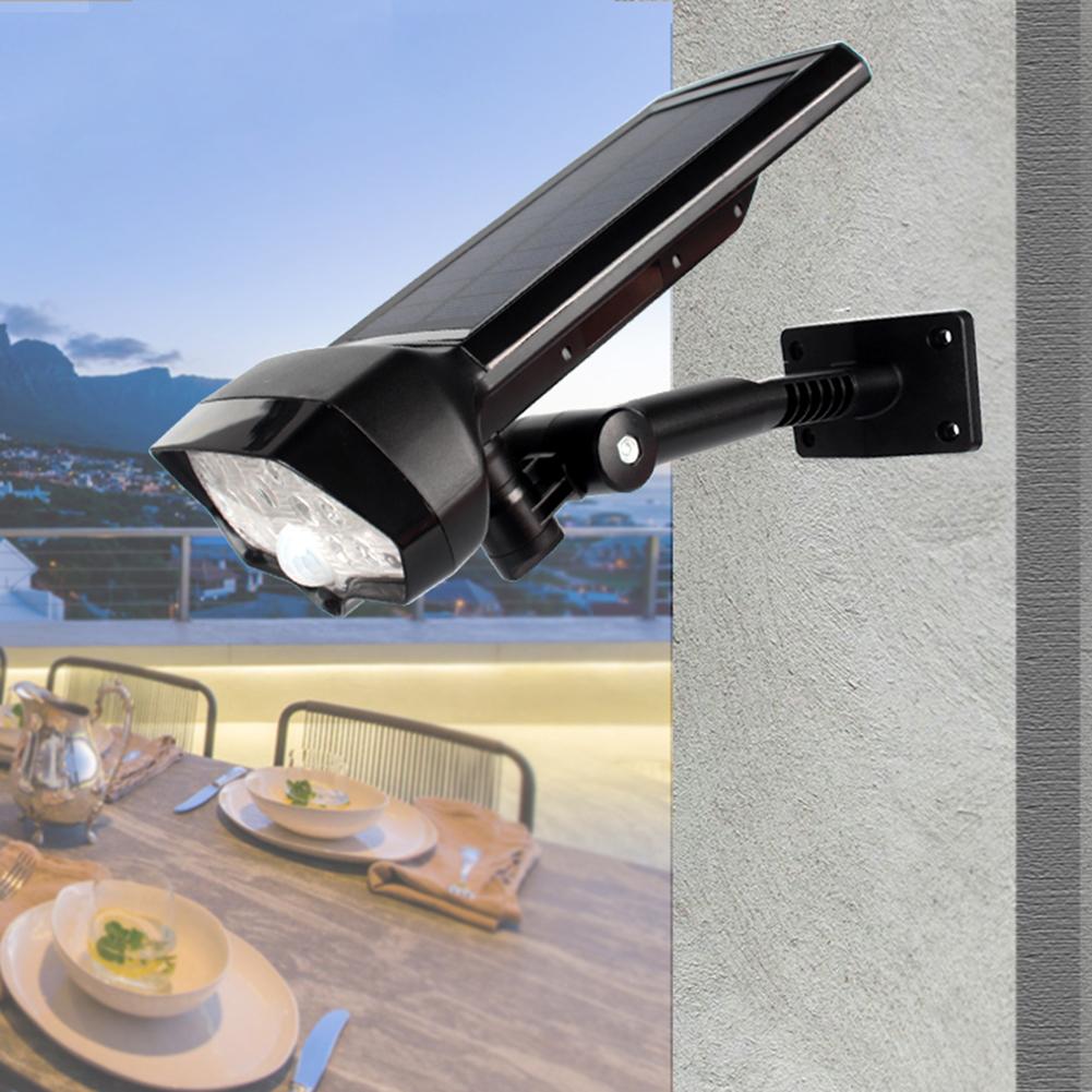 16LEDs Waterproof Motion Sensor Solar Lamp for Outdoor Garden Decoration White light