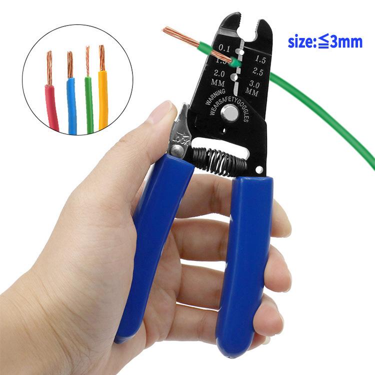 Capillary Cutter 3mm Capillary Scissors Repair Refrigerator Scissors Blue + black