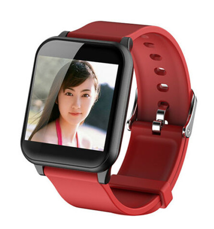 Smart Watch Waterproof Sport Blood Pressure Heart Rate Monitor for Phone Android Smart Bracelet  red