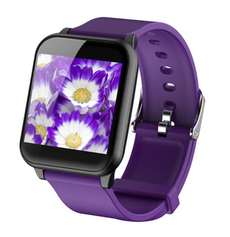 Smart Watch Waterproof Sport Blood Pressure Heart Rate Monitor for Phone Android Smart Bracelet  purple