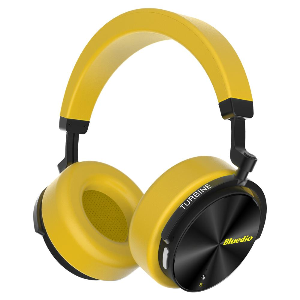 Bluedio T5S Bluetooth Headphones - Yellow
