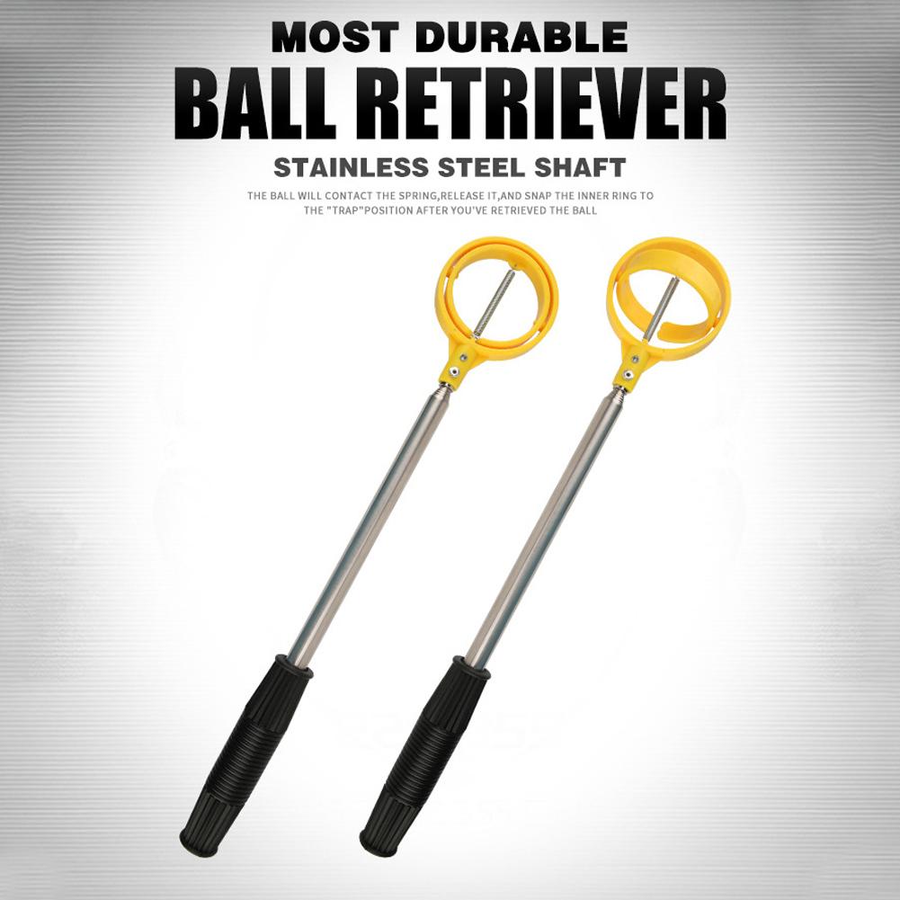 Retractable 2m Telescopic Stainless Steel Shaft Scoop Golf Ball Retriever Golf Accessories LQQ005